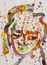 Sam FRANCIS - Dessin-Aquarelle - Untitled Portrait