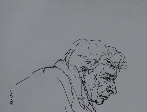 Claude RÉMUSAT - Drawing-Watercolor - LEONARD BERNSTEIN, Portrait