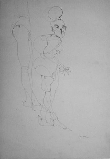 Enrico COLOMBOTTO ROSSO - Zeichnung Aquarell - Figure