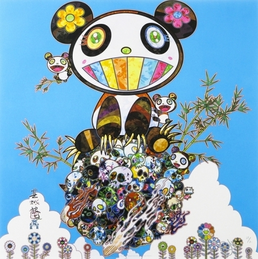Takashi MURAKAMI - Print-Multiple - Panda Family Happiness