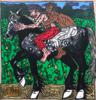 Robert COMBAS - Peinture -  Le Percheron