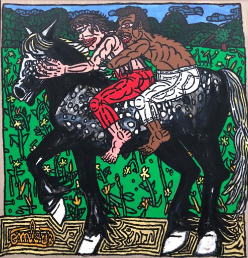 Robert COMBAS - Painting -  Le Percheron