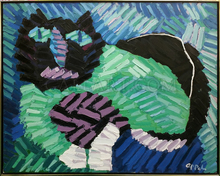 Karel APPEL - Pintura - The Green Cat