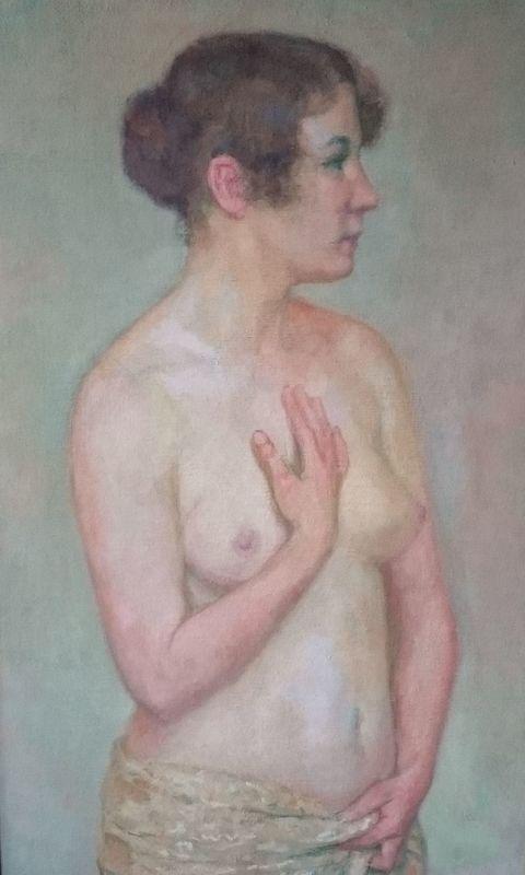 Théo VAN RYSSELBERGHE - Peinture - Nu debout