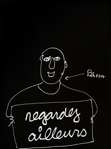 BEN - Zeichnung Aquarell - Regardez ailleurs