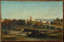 Eléazard Ch. Ant. DE SABRAN-PONTEVES - Painting - hameau du lac