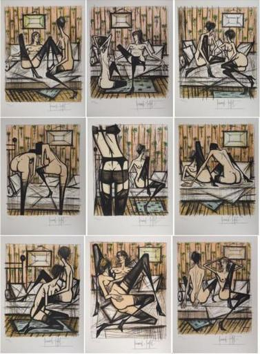 Bernard BUFFET - Stampa-Multiplo - Ladies Games