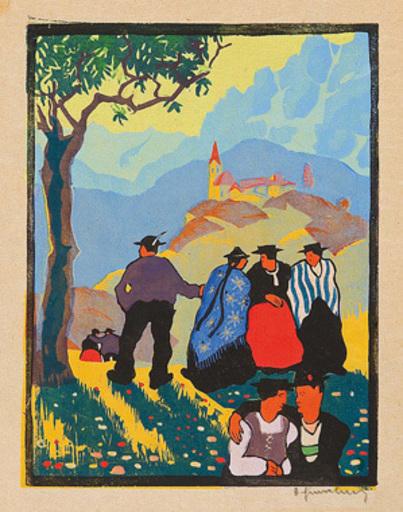 Herbert GURSCHNER - Grabado - Sommertag