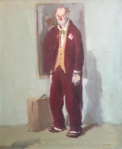 Martin BOLLÉ - Pintura - Le Départ Du Clown