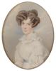 """Karl VON SAAR - Miniatur - """"Josefine Menz, born von Thoren"""", 1827, Watercolor"""