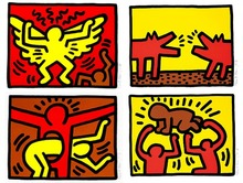 Keith HARING (1958-1990) - Pop Shop IV - Complete Suite