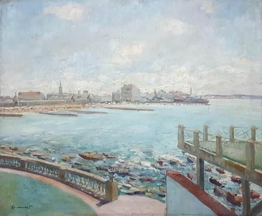 Francisco GUINART CANDELICH - Pintura - Playa del Torreón Mar del Plata 1931
