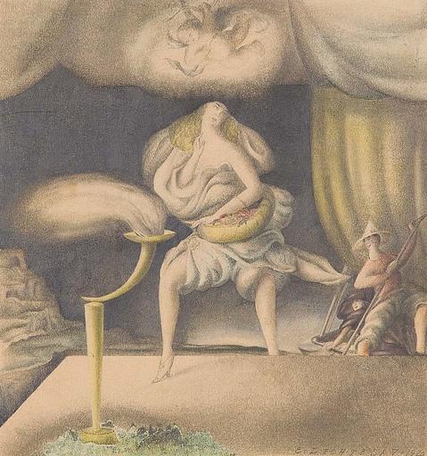 Ernst LICHTBLAU - Dessin-Aquarelle - Tänzerin
