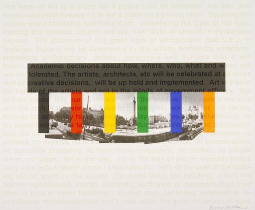 Bruce MCLEAN - Grabado - Great Arch of Art