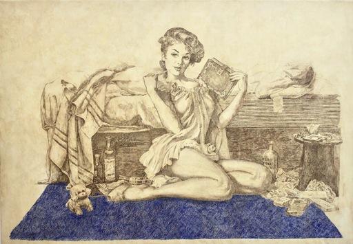 Vladimir KOLESNIKOV - Painting - My Bed