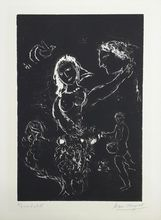 Marc CHAGALL - Estampe-Multiple - White on black