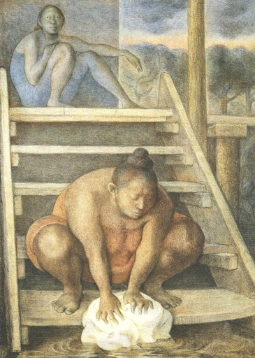 Francisco ZUÑIGA - Grabado - La Escalera