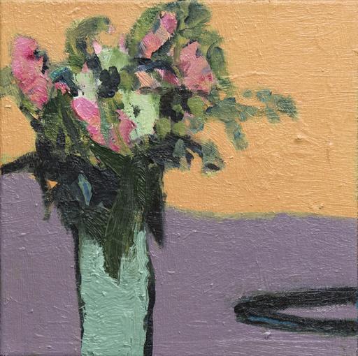 Jennifer HORNYAK - Pintura - Flowers with Black Cord