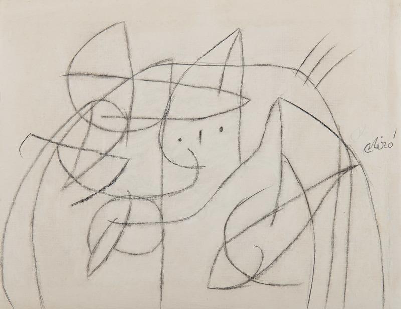 Joan MIRO - Drawing-Watercolor - Femme