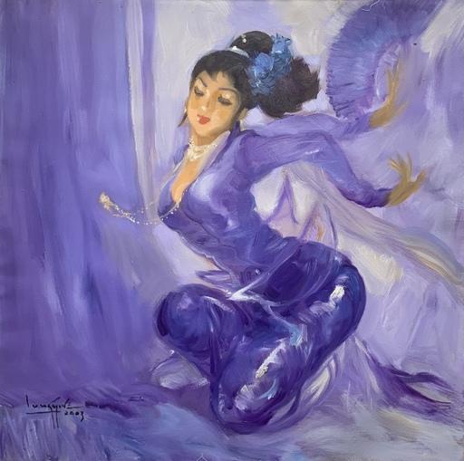 余龍義 - 绘画 - Purple Dancer
