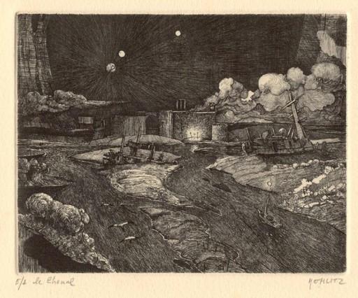 Philippe MOHLITZ - Stampa Multiplo - Le chenal - Edition à 60