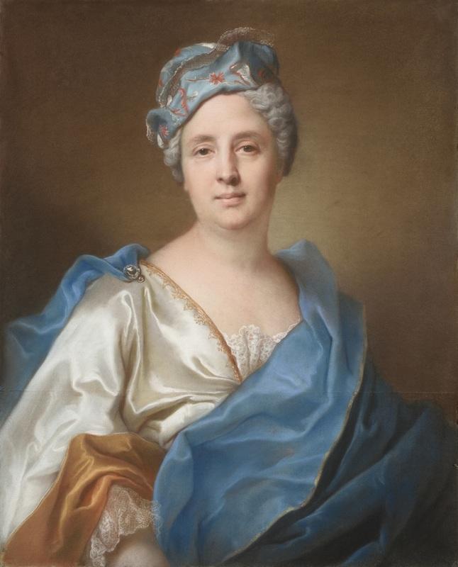 Joseph VIVIEN - Disegno Acquarello - Portrait de Madeleine-Geneviève Guillieaumon née Dupuis