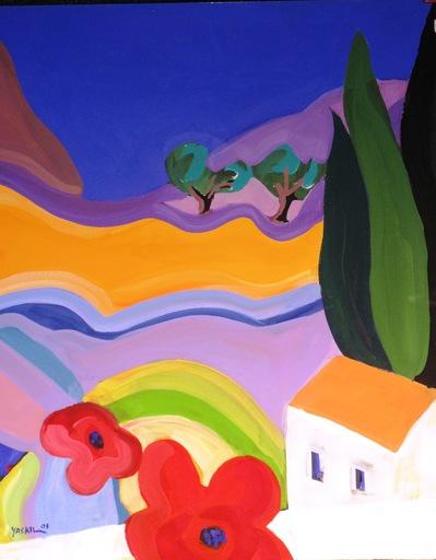 Amos YASKIL - Painting - Tiberias