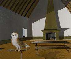 Julio LARRAZ - Painting - Radames in the Hall of Prophecies