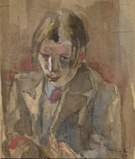 Robert Rafaelovich FALK - Drawing-Watercolor - junger Mann