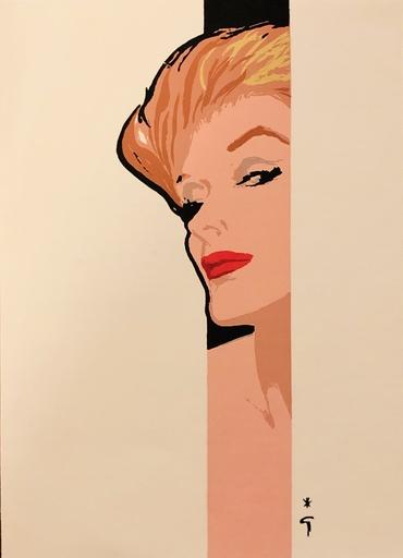 René GRUAU - Zeichnung Aquarell - Portrait de femme