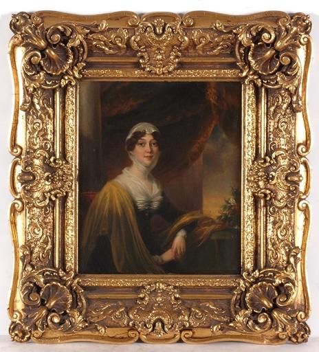 "John Phillip DAVIS (Attrib.) - Painting - ""Portrait of a Lady Called Mrs.Thompson"", Oil Painting"