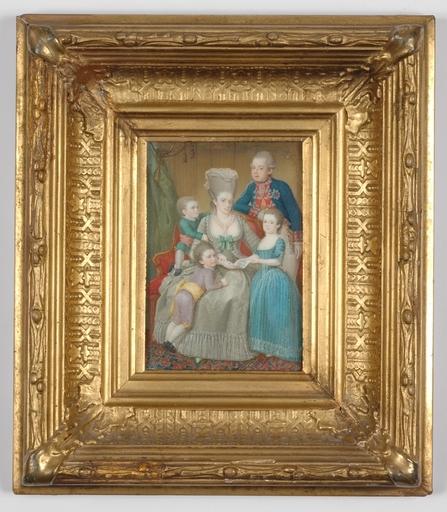 Pierre LE SAGE - Miniatura - Netherland's Royal Family, very important miniature,ca.1780