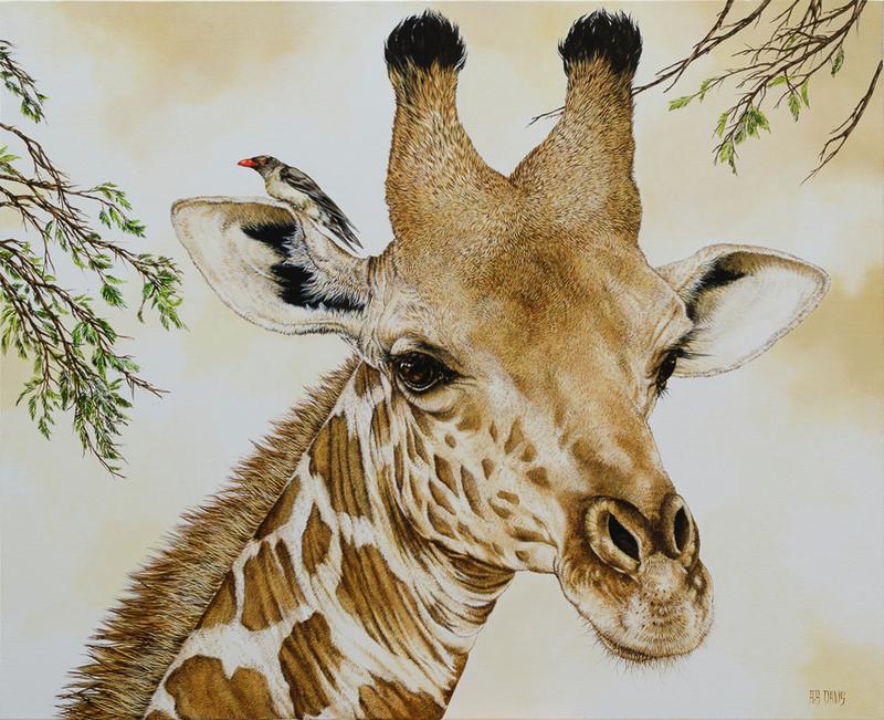 Agnès B. DAVIS - Pittura - Girafe masaï II