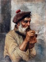 Gaetano ESPOSITO - Pintura - Hombre con pipa