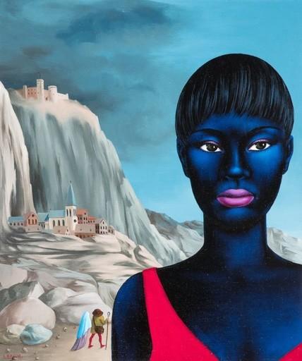 Félix LABISSE - Peinture - Jeune prostituée de Gongonhas dans un paysage animé ou La fu