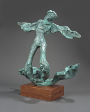 Salvador DALI - Sculpture-Volume - Winged Triton (Prestige-scale)