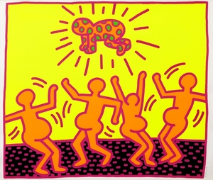 Keith HARING, Untitled 1-5