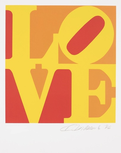 Robert INDIANA - Estampe-Multiple - Love #7 (from the Book of Love)