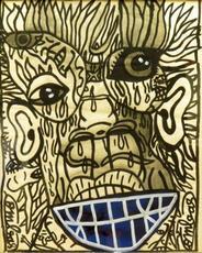Robert COMBAS - Dibujo Acuarela - Smile