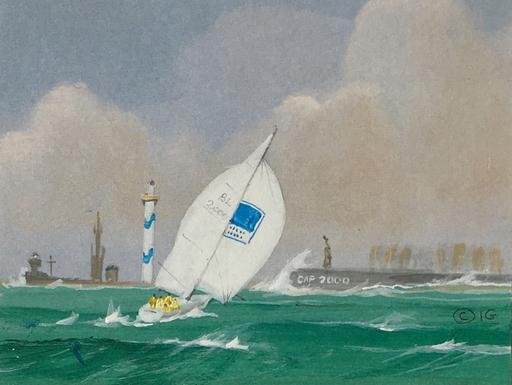 Ivan GOOD - Drawing-Watercolor - Tempête