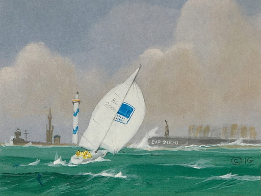 Ivan GOOD - Zeichnung Aquarell - Tempête
