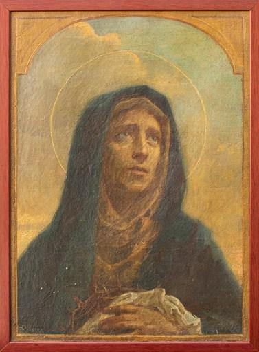 Enrico RAVETTA - Gemälde - Virgin Mary grieved
