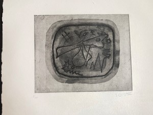 Georges BRAQUE - Stampa-Multiplo - Theogonie II