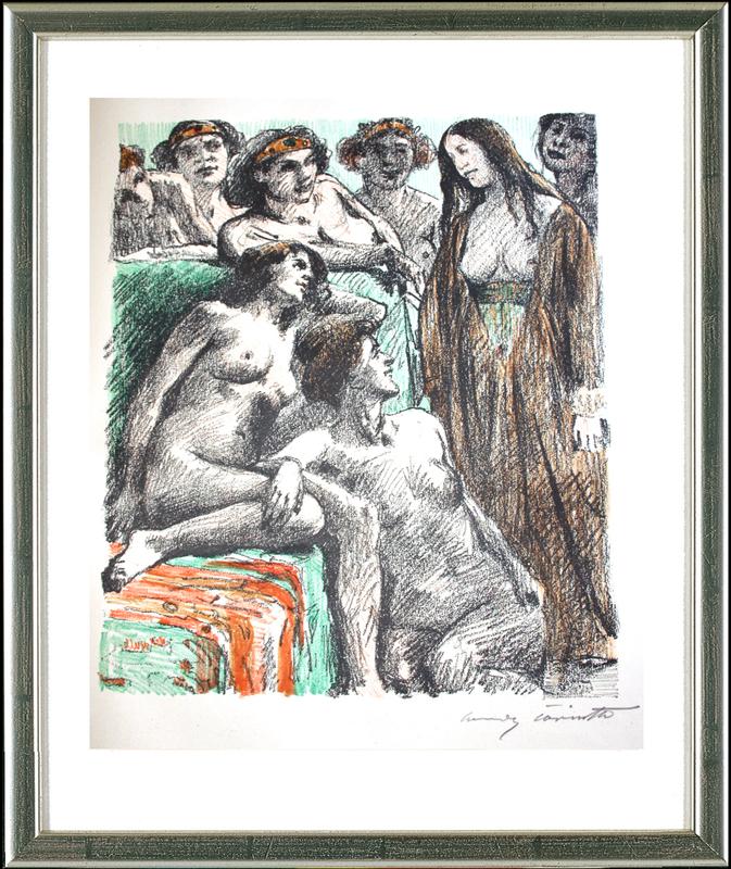 Lovis CORINTH - Print-Multiple - Der Bericht vor den Frauen