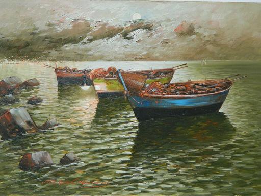 Vittorio COLUCCI - Pintura - PAYSAGE - PAESAGGIO - NAPOLI