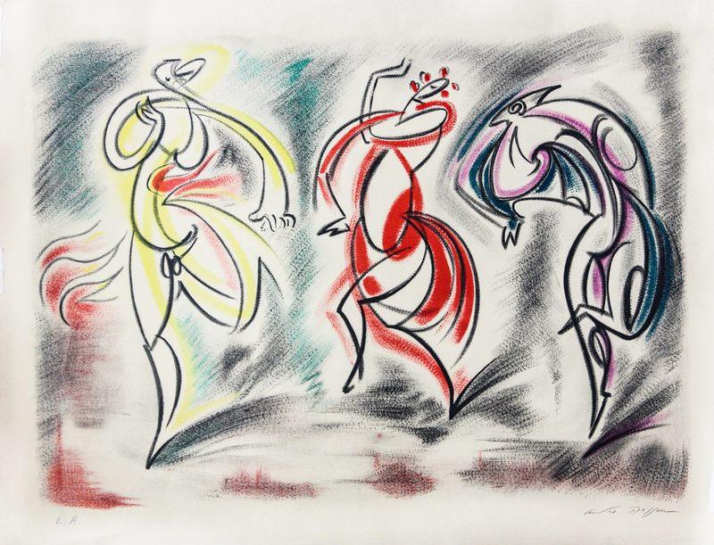 André MASSON - Print-Multiple - Souvenir d'un ballet de Monté Carlo
