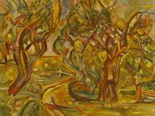"""Pinchus KREMEGNE - Grabado - """"Hommage à cézanne""""1970."""