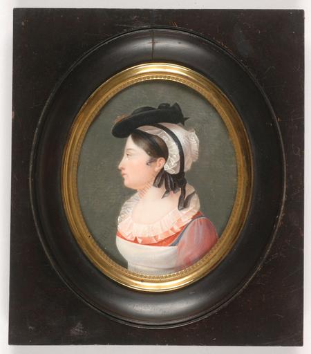 "Lizinka Aimée Zoé DE MIRBEL - Miniatura - ""Portrait of Mme Mazel"", large miniature, ca. 1820"