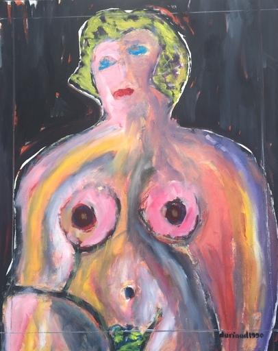 Christian DURIAUD - Pintura - Nu rose