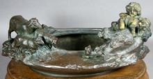 Adrien Etienne GAUDEZ - Sculpture-Volume - Art Nouveau Jardiniere